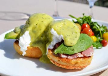 Huckleberry Bakery & Café, in Santa Monica, Calif., serves tons of green eggs and ham: plates of homemade English muffins topped with egg, arugula, pesto and prosciutto.