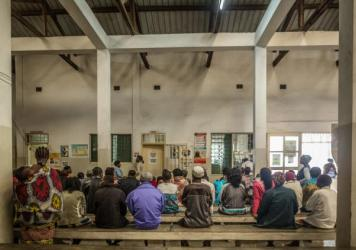 Every day, hundreds of patients wait to be seen at the Munhava health center in Mozambique's port city of Beira.