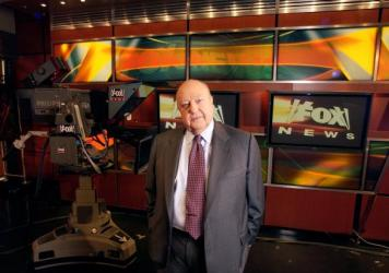 Fox News CEO Roger Ailes in his New York City studios in 2006. Ailes served as CEO from Fox News' first day in 1996.
