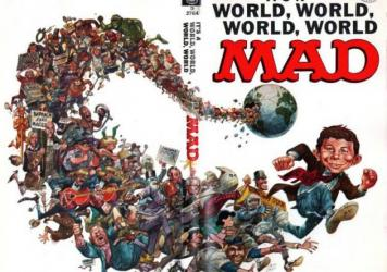A cover for <em>Mad</em> magazine by artist Jack Davis.