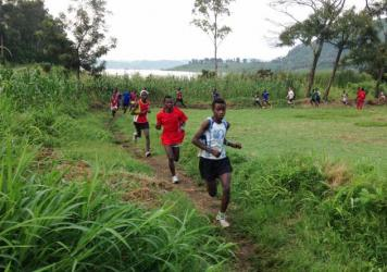 The runners of Project Kirotshe, ages 10 to 23, train practically every day.