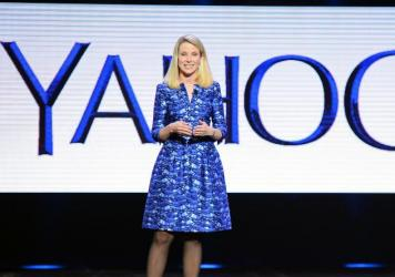 Yahoo President and CEO Marissa Mayer delivers a keynote address at the 2014 International CES in Las Vegas in 2014.