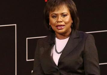 """University of Oklahoma law professor Anita Hill testifies before the Senate Judiciary Committee on the nomination of Clarence Thomas to the Supreme Court on Capitol Hill on Oct. 11, 1991. Hill testified that she was """"embarrassed and humiliated"""" by unwant"""