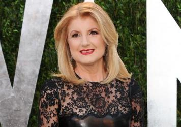 Arianna Huffington, seen arriving at an Oscar awards party in 2013, is leaving the Huffington Post to focus on a new site.