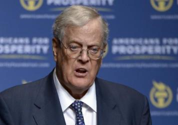 Conservative donor David Koch in a 2013 file photo. The political network he and his brother, Charles, have created is not backing Donald Trump's presidential bid this year.