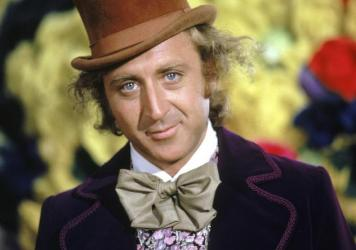 Actor Gene Wilder as Willy Wonka in <em>Willy Wonka & The Chocolate Factory</em> in 1971. Wilder died Monday at 83.