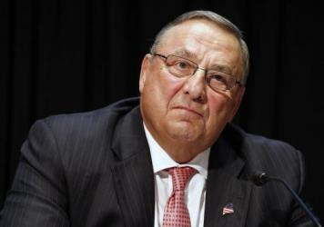 Maine Gov. Paul LePage, shown in June, has been widely criticized for repeatedly blaming Maine's drug trade on black and Hispanic people. After a lawmaker called his comments racially charged and unhelpful, LePage left him an obscene voicemail.