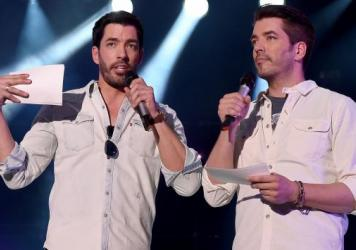 Hosts Jonathan Scott and Drew Scott of HGTV's <em>Property Brothers</em> speak onstage during CMA Festival on June 10, 2016.