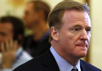 """""""While we can never completely eliminate the risk of injury, we are always striving to make the game safer,"""" NFL Commissioner Roger Goodell says."""