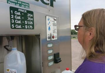 For months, Security, Colo., resident Brenda Piontkowski has regularly visited this vending station to collect drinking water for her family.