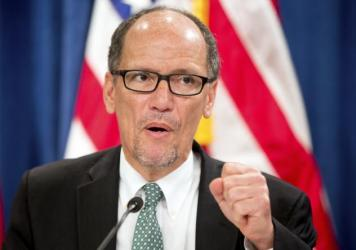 Labor Secretary Thomas Perez, pictured earlier this year, says $5 million will be distributed to job programs for people recently released from jail.