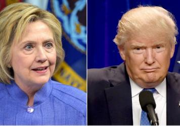 Democrat Hillary Clinton, left, and Republican Donald Trump, right, will debate for the first time Monday night.