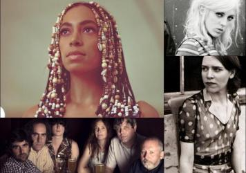 Clockwise from upper left: Solange, Black Honey, Gillian Welch, Major Stars