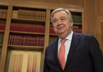 Antonio Guterres, then-U.N. high commissioner for refugees, at a 2015 meeting with Greek Prime Minister Alexis Tsipras in Athens in 2015.