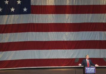 Republican presidential candidate Donald Trump speaks at a campaign rally in Henderson, Nev., on Oct 5.