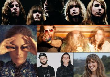 Clockwise from upper left: TOY, Twin Limb, Amber Coffman, Zeds Dead, Agnes Obel