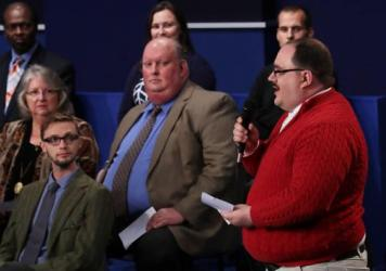 Here's the moment when Ken Bone became a household name. Bone asked a question about energy policy during the second presidential debate in St. Louis.
