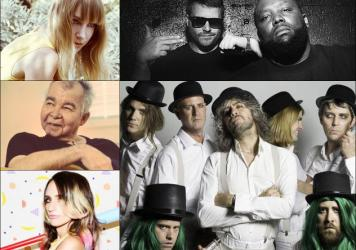Clockwise from upper left: Laura Burhenn, Run The Jewels, The Flaming Lips, Sadie Dupuis of Sad13, John Prine