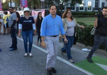 Marco Rubio at Calle Orange, a street festival in downtown Orlando, Sunday.