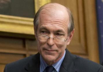 In this May 8, 2014, photo, Rep. Scott Garrett attends a hearing about the international financial system in Washington, D.C.