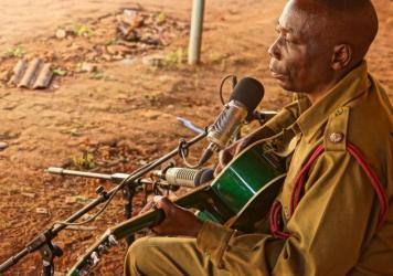 "Prisoner guard Thomas Binamo wrote a ballad after his wife died suddenly: ""I Will Never Stop Grieving For You, My Wife."""