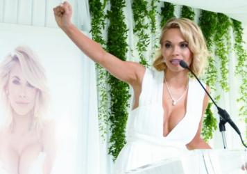 "Dani Mathers, seen here being honored as <em>Playboy's</em> ""2015 Playmate Of The Year,"" was widely criticized after she posted an image of a naked woman in a gym's shower area."