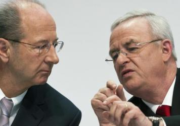 VW Chairman Hans Dieter Pötsch, left, seen here with his predecessor Martin Winterkorn, has been at Volkswagen since 2003.