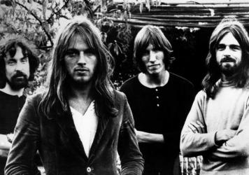 Pink Floyd in 1972, left to right: Nick Mason, David Gilmour, Roger Waters and Rick Wright