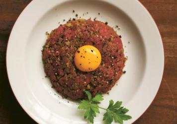 Assassin's Steak Tartare, one of the recipes from Y<em>ashim Cooks Istanbul,</em> inspired by the dishes cooked by the lead character in the popular Yashim detective series of books.