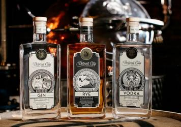 Among the products of Detroit City Distillery are Homegrown Rye Whiskey and Butcher's Cut Bourbon.