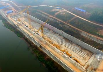 Construction on the keel of a replica of the Titanic began on Nov. 30 in Suining, Sichuan province, China.