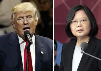 "After President-elect Donald Trump's conversation with Taiwan's President Tsai Ing-wen (right), and his subsequent suggestion that the One China policy could be reconsidered, a Chinese government spokesman warned that if the policy ""is interfered with or damaged, then the healthy development of China-U.S. relations and bilateral cooperation in important areas is out of the question."""