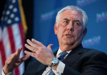 ExxonMobil chairman and CEO Rex Tillerson speaks in March 2015 at a discussion organized by the Economic Club of Washington. President-elect Donald Trump is expected to name Tillerson as his nominee for secretary of state today.
