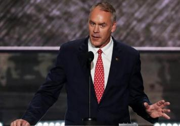 Rep. Ryan Zinke, R-Mont., spoke at the Republican National Convention in Cleveland in July.