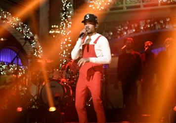 Let the raspy, gospel-infused vocals of Chance the Rapper warm you this holiday season.