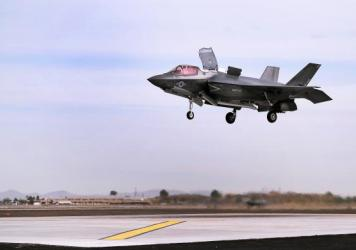 A Marine Fighter Attack Squadron 121 F-35B Lightning II prepares to make a vertical landing in Yuma, Ariz., in 2013. President-elect Donald Trump asked Boeing to price a version of one of its fighter jets to be competitive with Lockheed Martin's F-35 aircraft.