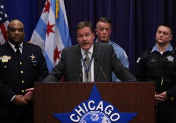"This image, posted on the Chicago Police Department's Twitter page, shows a frame from a video broadcast live on Facebook in which a man is assaulted. Superintendent Eddie Johnson  called the video ""sickening."""