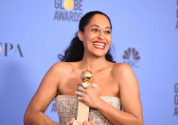 Tracee Ellis Ross won the award for Best Actress in a Comedy TV series for her role in <em>Black-ish</em>, at the 74th annual Golden Globe Awards on Sunday.