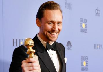 Actor Tom Hiddleston caused a stir on Twitter when he spoke after winning a best actor Golden Globe for his TV series <em>The Night Manager.</em>
