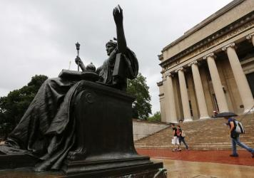 The Alma Mater statue on the Columbia University campus in New York City. The university has released an initial report on its historical ties to slavery in America.