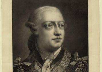 King George III: Mad, villainous brute — or flawed, misunderstood man? A new, publicly available archive aims to give scholars and dabblers alike a chance to decide for themselves. This image was rendered in 1795, more than a decade after George nearly abdicated.
