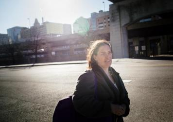 Funn now sees nurse practitioner Amber Richert regularly at a Health Care for the Homeless clinic in Baltimore.