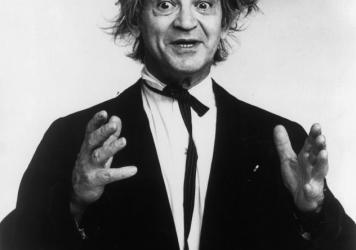 "Comedian Irwin Corey was known for his long-running act as ""The World's Foremost Authority."" He is pictured here in the 1970s. Corey died at the age of 102."
