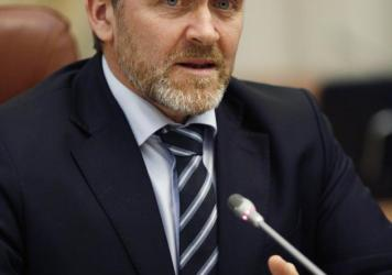 Danish Foreign Minister Anders Samuelsen, shown here during a meeting with Ukraine's prime minister on Jan. 30, predicts other countries will follow Denmark's example in appointing a tech ambassador.