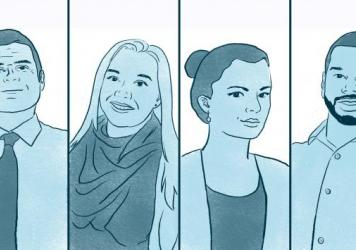 Shant Sahakian, Victoria Sterling, Allison Kruk and Shae Ashe are candidates for their local school boards.
