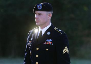 Army Sgt. Bowe Bergdahl at Fort Bragg, N.C. His defense team is arguing that he cannot get a fair trial after Donald Trump repeatedly called Bergdahl a traitor in public.