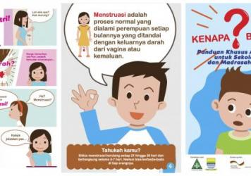 Panels from a UNICEF comic that aims to educate boys — and girls — about menstruation.