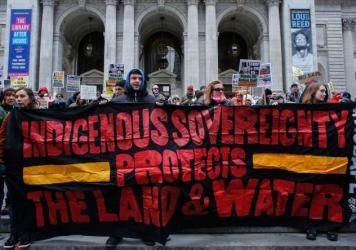 A protest against the Dakota Access Pipeline on March 4 in New York City.