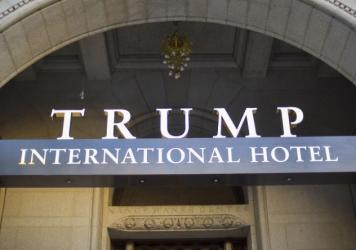 The annual conference has taken place in recent years at Washington's Ritz-Carlton hotel, but is scheduled this May for the Trump International Hotel.