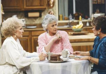 <em>The Golden Girls</em>: Betty White as Rose Nylund, Bea Arthur as Dorothy Petrillo Zbornak, and Rue McClanahan as Blanche Devereaux. Much of the memorabilia that McClanahan left behind — from the show and the rest of her career is on display at Rue La Rue Cafe in Manhattan.